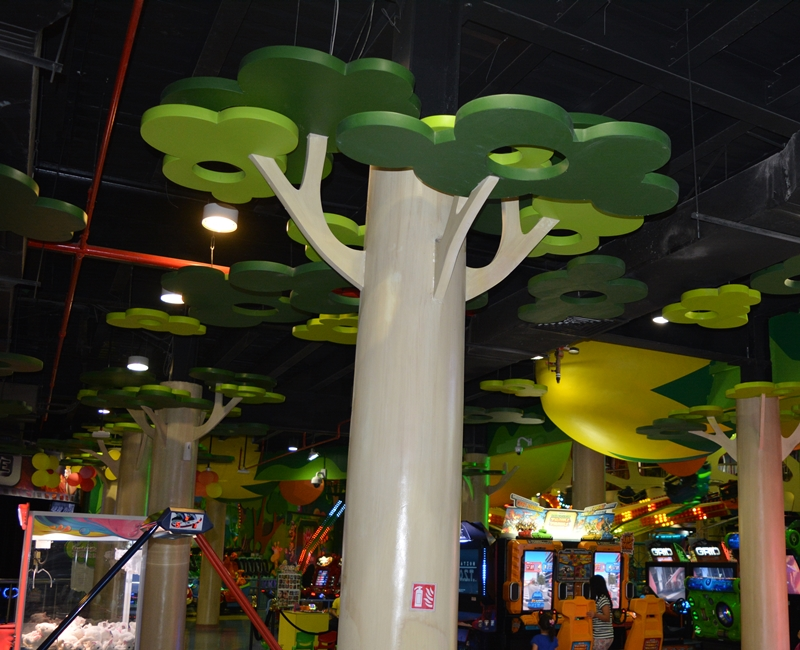 Jungle Zone Indoor Lighting Project Qatar