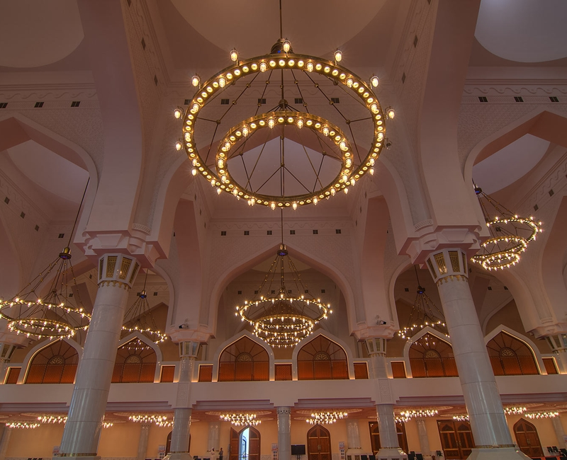 Grand Mosque Qatar Supply of interior Lights Project