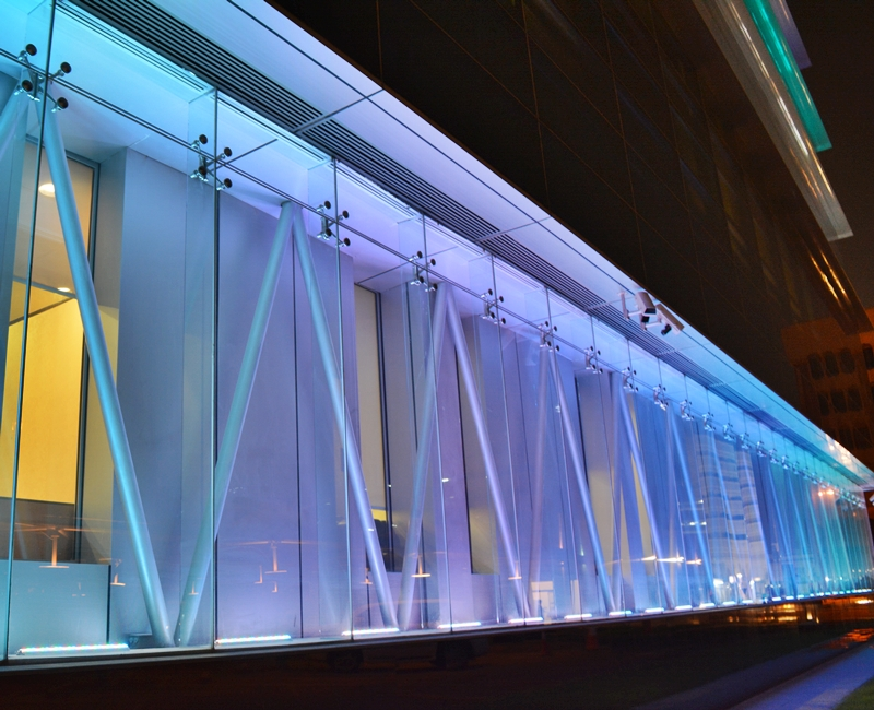 Qatar National Bank Head Office-Corniche, Facade Lighting