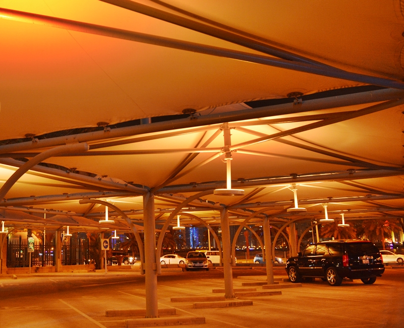 Qatar National Bank Corniche, Car Park Lighting. Mubarak International Company Qatar