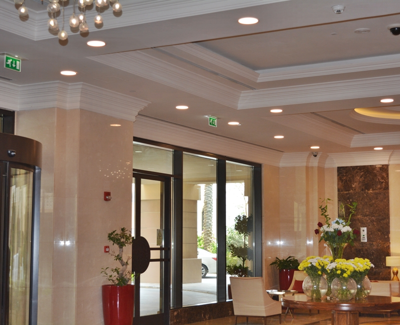 Retaj Hotel Pearl Qatar Indoor Lighting Project, Mubarak International Company Qatar